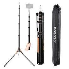 Fosoto FT 220 treppiede per fotocamera in fibra di carbonio con 1/4 e 3/8 testa a vite supporto per luce a led per Studio fotografico ombrello per illuminazione fotografica