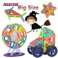 TELECOOL 큰 크기 자기 디자이너 빌딩 블록 장난감 41/89/102 개 영감 성인 및 건설 교육 장난