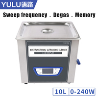 TUC100 Power Adjustment 10L Ultrasonic Cleaner LCD Screen Sweep Frequency Degassing Sleep Function Cleaning Machine Tanks