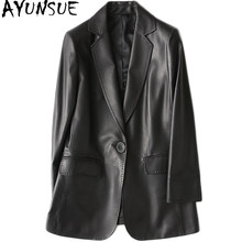 AYUNSUE Women Casual Genuine Leather Jacket 2019 Spring New Real Sheepskin Coat Female Slim Ladies Jackets Outerwear YY1089A(China)