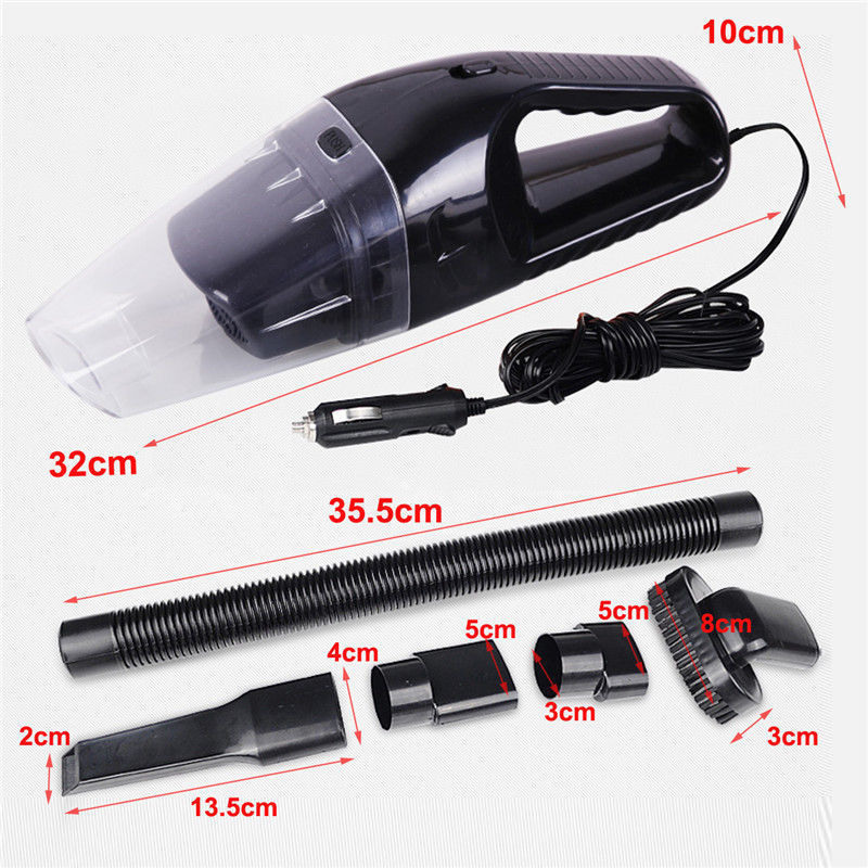 12V 120W Car Vacuum Cleaner Handheld Portable Dust Collector Wet and dry 6 in 1 mini vacuum cleaner in Vacuum Cleaners from Home Appliances