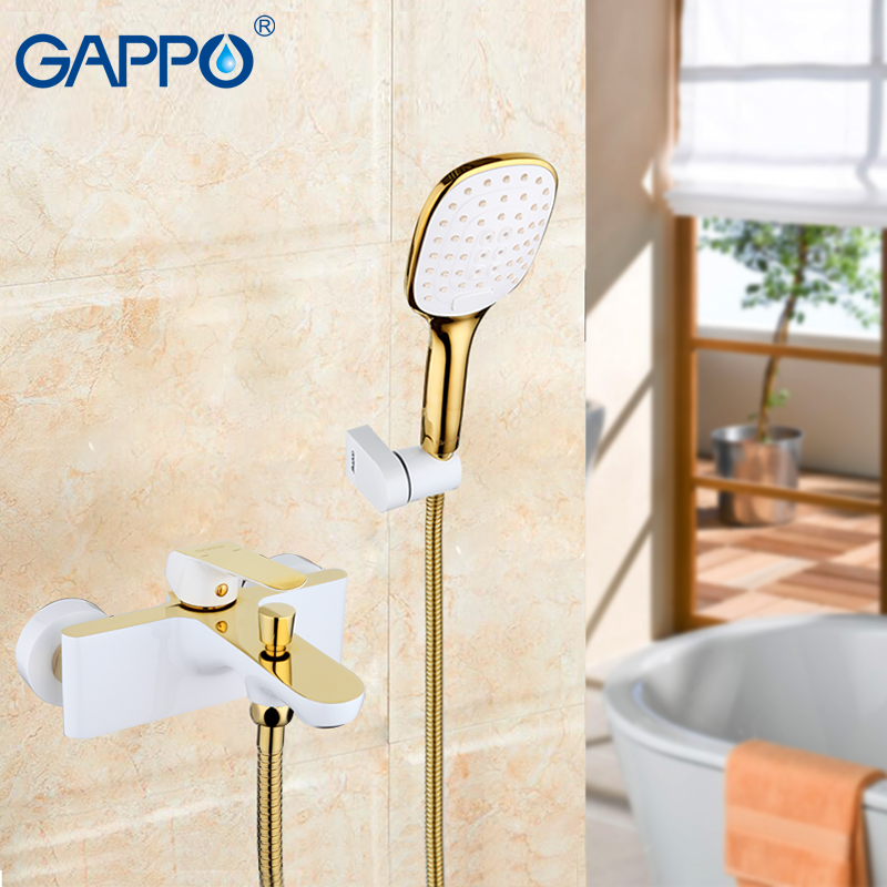 Gappo Bathtub Faucets shower bathroom waterfall faucet bath wall mounted faucet antique luxurious golden color waterfall