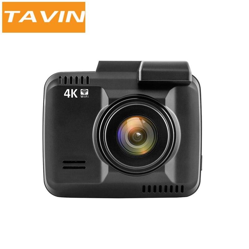 TAVIN Cachée Voiture Dvr Enregistreur Dash Cam 4 k 2160 p WiFi Full HD Véhicule Caméra Construit en GPS WDR nuit Vision G-capteur auto cam
