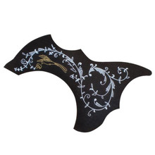 Acouway  40″ 41″ inch Acoustic Guitar Scratch Plate Pickguard Pick Guard Sticker self adhesive black color