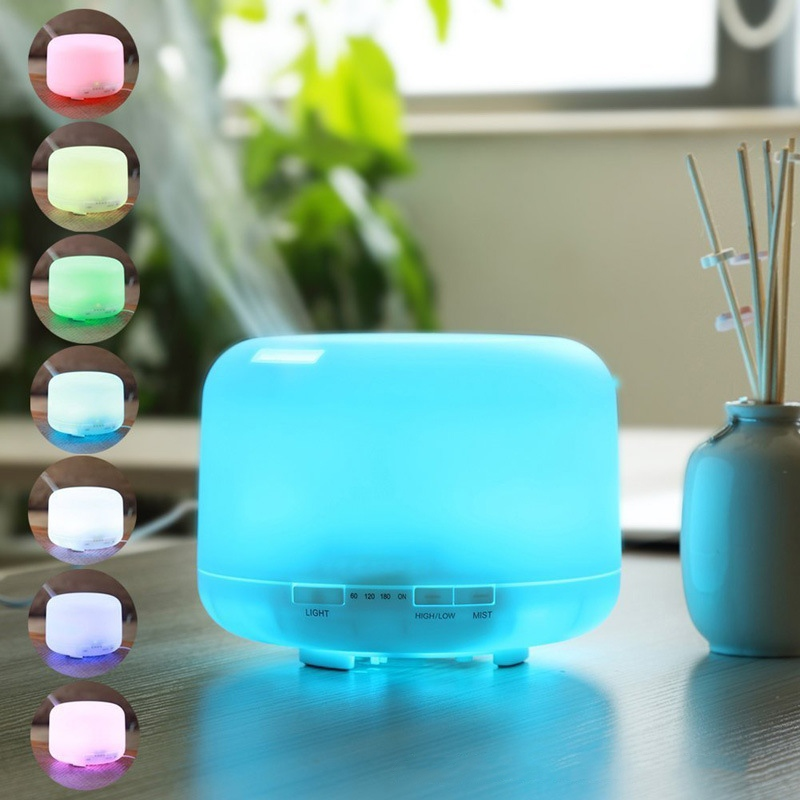 500ml Ultrasonic Air Humidifier Aroma Diffuser with 7 color Lights Electric Aromatherapy Essential Oil Aroma Diffuser Mist Maker 500ml 7 colors ultrasonic air humidifier essential oil diffuser aroma diffuser aromatherapy electric household office mist maker
