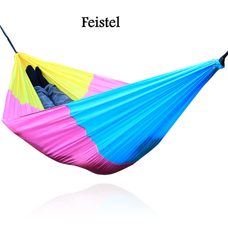 Hammock with mosquito net Portable Strength Parachute Fabric Camping Mosquito Camping Hammock hamock(China)