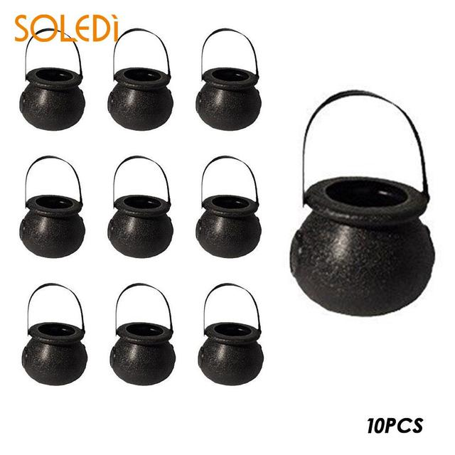10pshalloween witch skull candy pot halloween candy kettles witch cauldron novelty halloween party hanging props candy