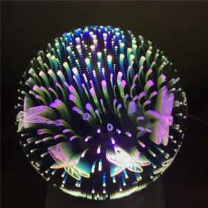 Image 2 - עץ צבעוני 3d אור קסם מקרן כדור 3d מנורת USB אספקת חשמל שינה אווירת לילה אור שמיים שולחן מנורה