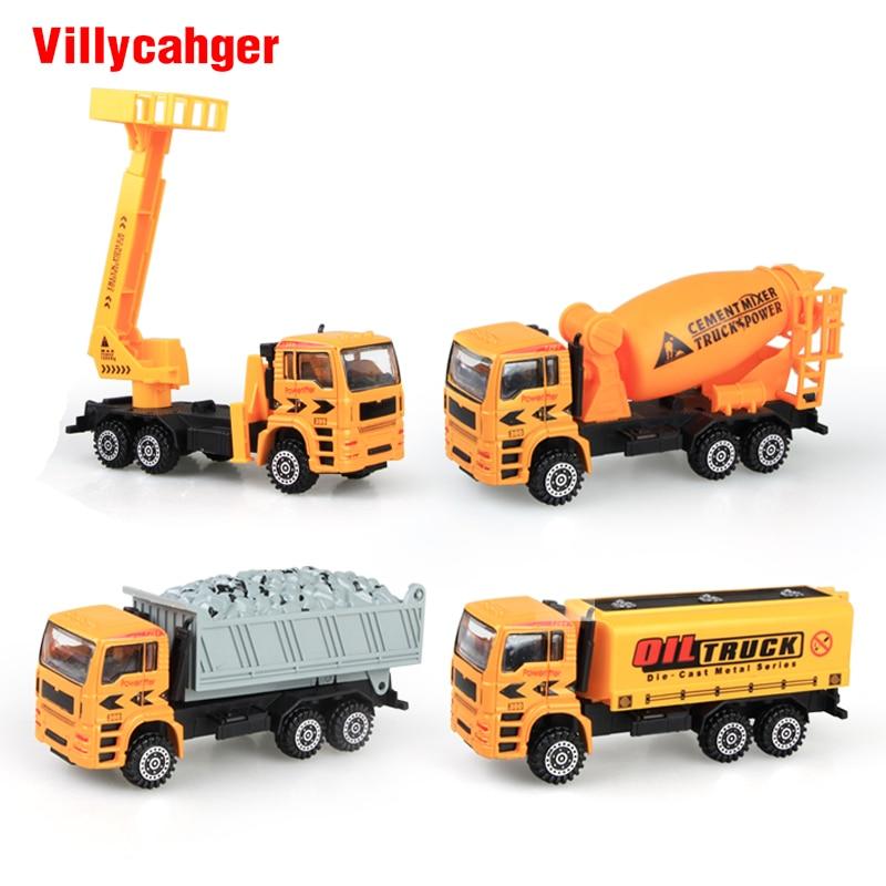 4 types Engineering construction vehicle Car Concrete mixer