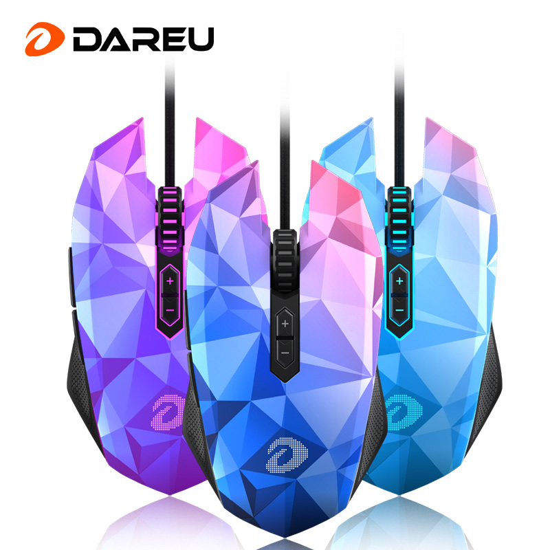 Dareu EM925 Gaming Mouse 10800dpi Adjustment USB 7 Keys Ergonomics Wired Optical Computer Gaming Mice LOL
