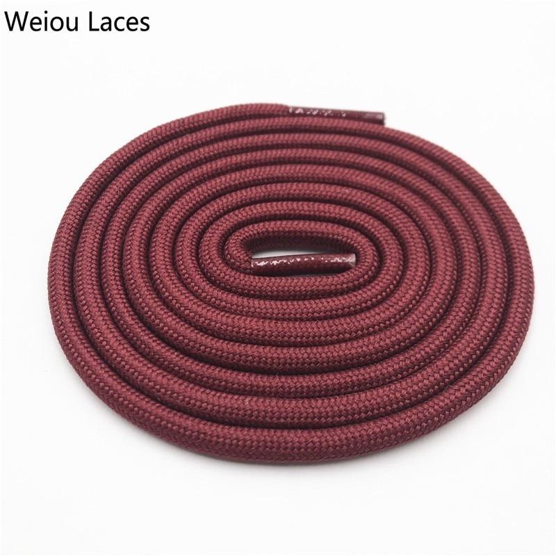 Weiou 0,5 см круглые спортивные шнурки из полиэстера толстые походные шнурки одежда веревка для скалолазания шнурки для ботинок Детские мужские - Цвет: 2713Jujube Red