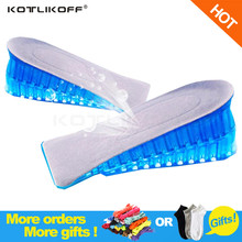 1 Pair High Quality Men Women Orthopedic Height Increase Insoles Massaging Invisible Half Silicone Foot Pad