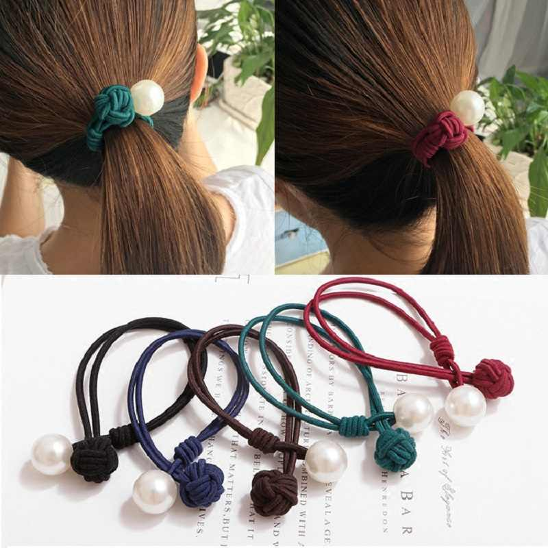 Cheap Wild The New Explosion Models Hair Ring Rubber Band Cute Bow Hair Rope Knotted Ponytail Tousheng For Girl Hair Jewelry