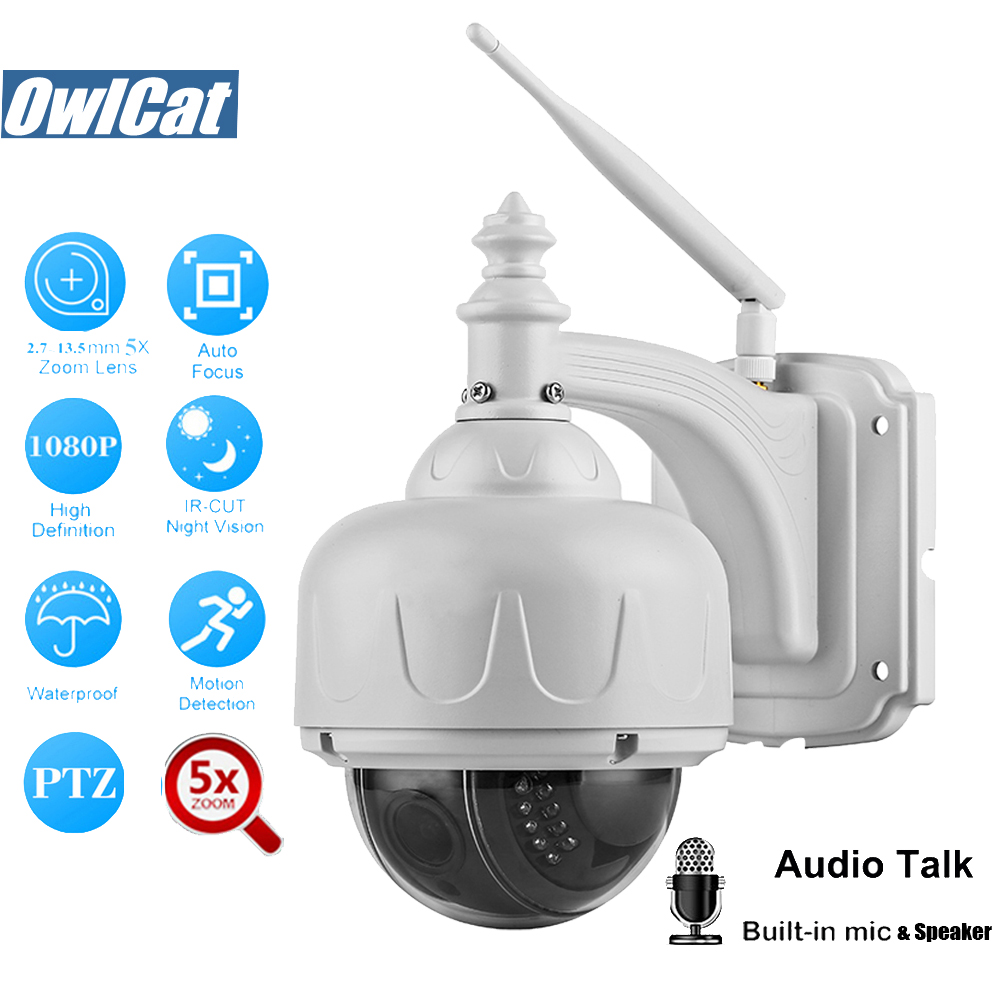 OwlCat SONY323 HD 1080P 960P Dome Outdoor PTZ IP Camera Wifi 2.0MP 5X Opticl Zoom Wireless P2P Audio SD Card Slot IR ONVIF2.4OwlCat SONY323 HD 1080P 960P Dome Outdoor PTZ IP Camera Wifi 2.0MP 5X Opticl Zoom Wireless P2P Audio SD Card Slot IR ONVIF2.4