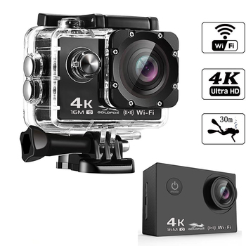 Ultra HD 4K 30fps Action Camera 1080P 60fps Wifi 16MP Sport Camera Go Diving Pro cam Waterproof Outdoor Sports DV Helmet Camera