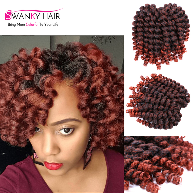 8 Inch Wand Curl Crochet Hair Extensions 20Rootspack