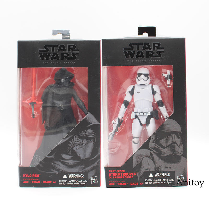 Star Wars 7 The Force Awakens The Black Series Kylo Ren Stormtrooper PVC Action Figure Collectible Model Toy 16cm KT3750 10cm nendoroid star wars toy the force awakens stormtrooper darth vader 501 502 pvc action figure star wars figure toys
