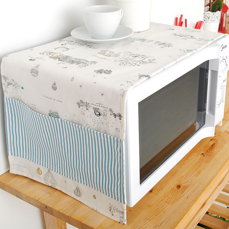 New Arrvial Small Fresh Style Microwave hood set cloth dust cover home gremial oven prevent dust cover 32*100CM