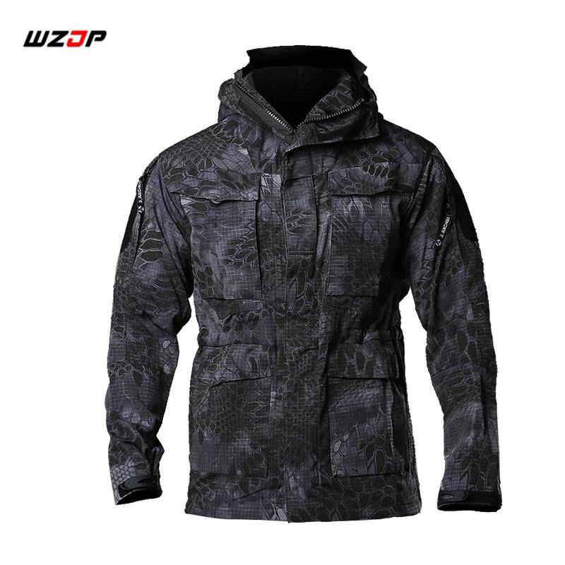 Hiking Jackets Wzjp M65 Military Camouflage Male Clothing Us Army Tactical Mens Windbreaker Jacket Outwear Camping & Hiking Male Hooded Jacket Beautiful And Charming Hiking Clothings