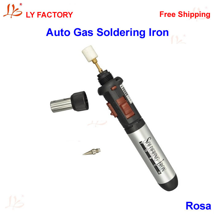 Metal Auto Ignition Butane Gas Soldering Iron Welding Flamethrower IRON TORCH multi function adjustable auto ignition gas butane brazing torch black red 1300 c