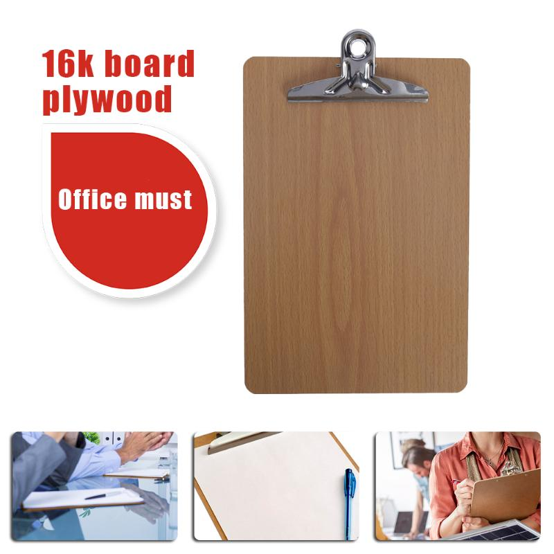 ALLOYSEED Portrable Hard Wooden File Clip Board Folder Report Document Writing Plate Clipboard School Office Stationary Supplies coloffice 1pc colorful multi function file folder wordpad clipboard clip filing production folder file document school office