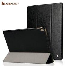 Jisoncase Caso Elegante de La Cubierta para el Nuevo ipad Pro 10.5 2017 Caja Plegable de Cuero de LA PU Tirón de la Cubierta de La Tableta para iPad Pro 10.5 pulgadas imán