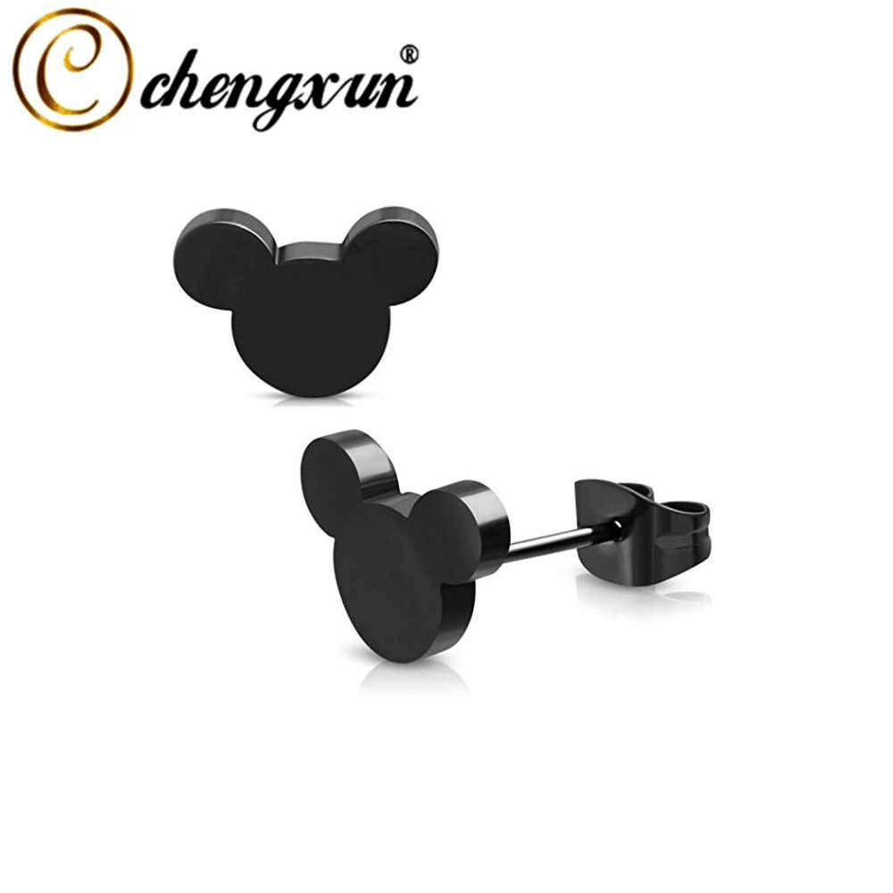 CHENGXUN Cute Colorful Cartoon Mickey Earring Lovely Stud Earrings Fashion Jewelry Women Accessories  Gifts for Girls Kids