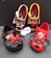 Mini Melissa 2017 Twins II Mickey Minnie Jelly Girls Sandals Melissa Shoes Mini Melissa Jelly Shoes Anti-Skid High Quality