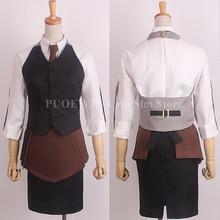 Anime Tokyo Ghoul  CCG kirishima touka waitress uniform Cosplay Costume