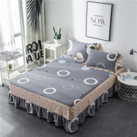 Quality Bedspread bedclothes 100% Cotton bed skirt bed sheet Mattress skirt 1.2/1.8/1.5/2.0m meters Bedcover cubrecama bed sets