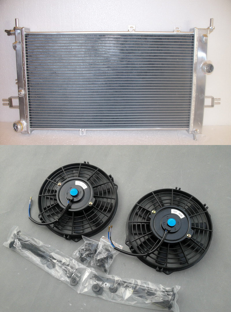 New Aluminum Alloy Radiator 2 FAN FOR Opel Astra G MK4 GSi Coupe SRi Turbo Uprated