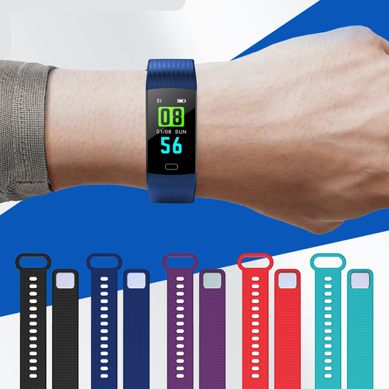 SIKEMEI Pulsometer Fitness Smart Bracelet Wristband Activity Tracker Pedometer Smart Watch Vibrating Alarm Clock For iPhone iOS in Smart Wristbands from Consumer Electronics