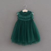 Flower Girl Lace Vest Dress High Quality Kids Birthday Party Wedding Princess Dress For Girls Children