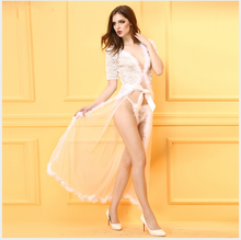 Sexy Lingerie Women Sex Toy Exotic Lingerie Sexy Costumes Sleepwear Underwear Split Lace White Black Clock Dress