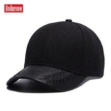 Brand UNIKEVOW PU visor Baseball Cap Unisex Outdoor Snapback Hat Sunscreen solid Caps Hip Hop hats for men & women