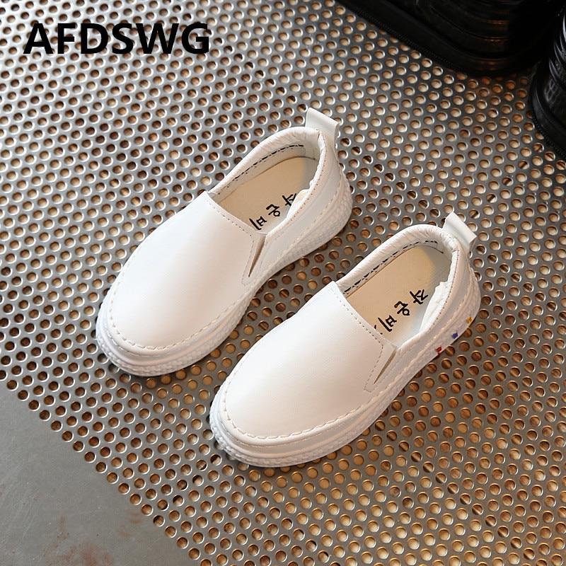 AFDSWG printemps et automne rose PU étanche souple noir enfants casual chaussures filles blanc sneakers garçon baskets enfants chaussures