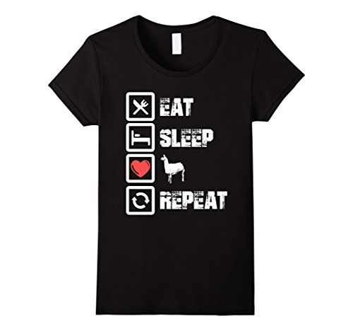 Eat Sleep Love Llama Repeat - Lovely T Shirt European Style Hip Hop S-Xl Female T-Shirt Kawaii Hip Hop Brand Top Tee