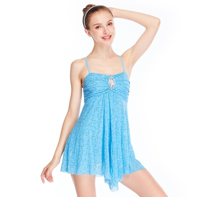 92854c8e0 MiDee Sequins Skating Dress Lyrical Ballet Dance Costumes Dress ...