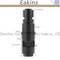 16X 160X регулируемое увеличение 25 мм зум c крепление объектива 0.7X ~ 5X для промышленности видео микроскоп камера рабочее расстояние 110 170 мм