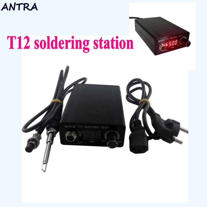 Quick Heating T12 soldering station electronic welding iron Automatic sleep automatic standby thermostat control STC-T12 L1115