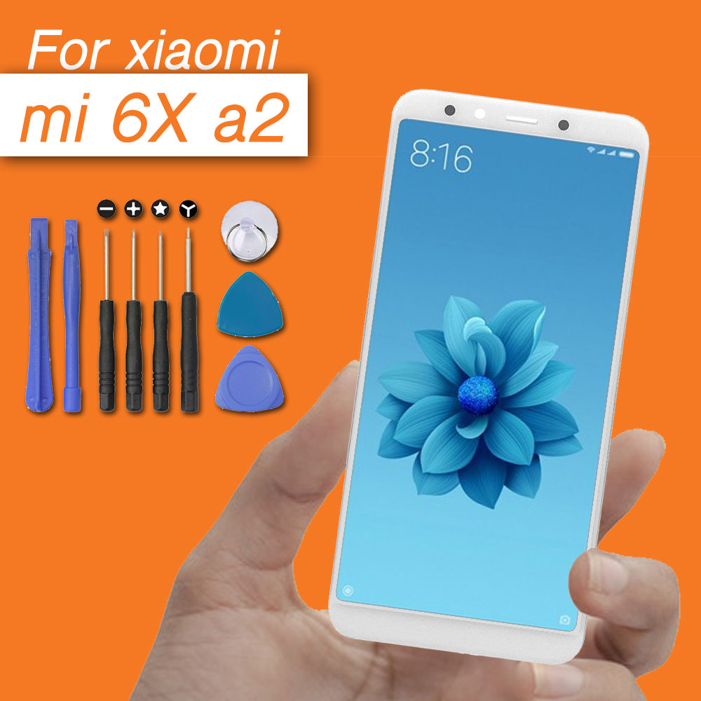 high quality display screen for xiaomi mi 6x lcd touch panel assembly for xiaomi mi A2 display digitizer lcd screen