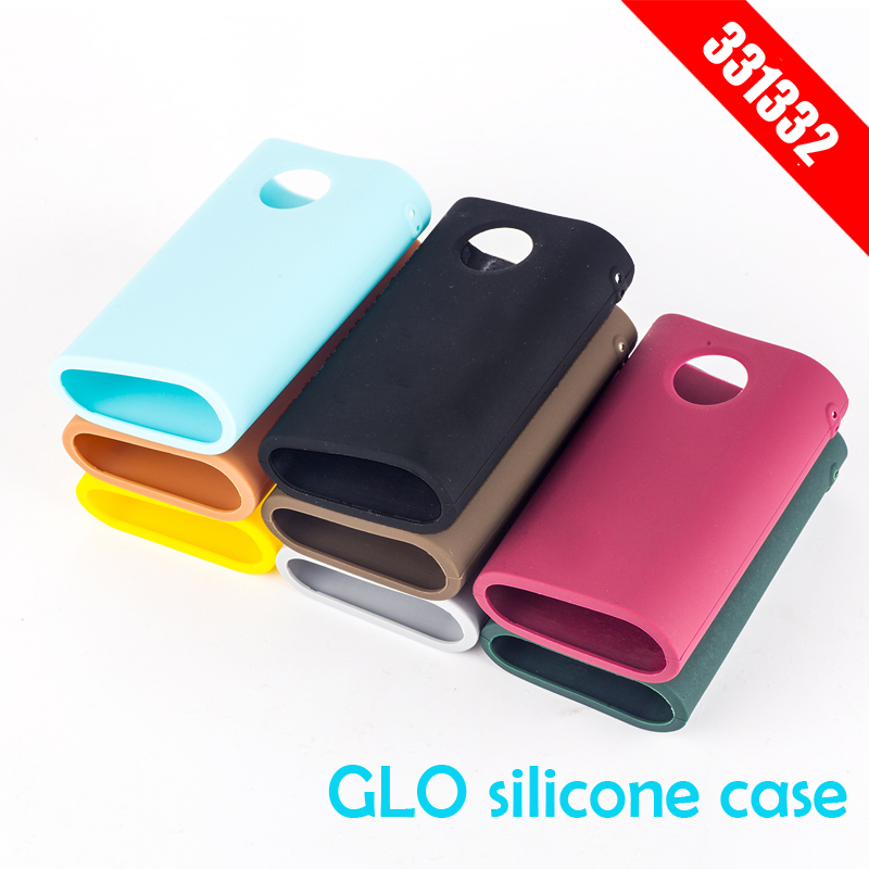 Retail wholesale vape replacement parts multi color Silicone Case For GLO Protective Cover Skin in stock shipping immediately