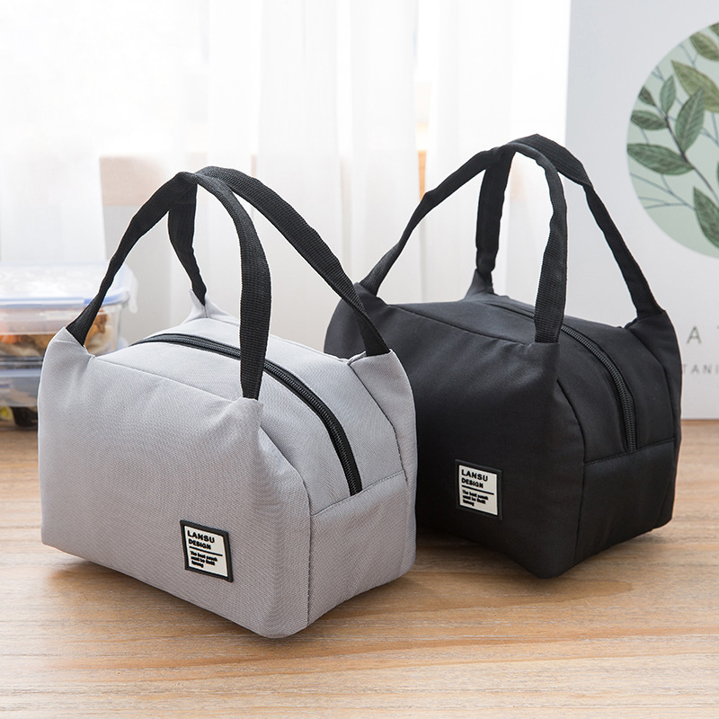 Black White Waterproof Zipper Lunch Bag Women Girls Student Lunch Box Thermo Bags Office School Picnic Cooler Bag Bolsa Termica