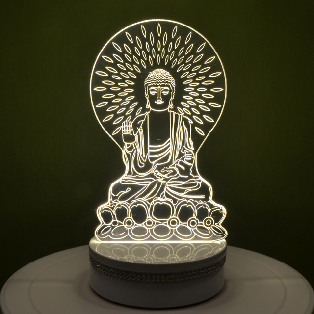 3d Lamp Table Lamp Desk Lamp USB Light Acrylic Led Night Light Creative Buddha  Lamp Josen