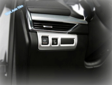 Lapetus Auto Styling Head Lights Lamp Switch Button Frame Cover Trim ABS Fit For Cadillac XT4 2019 2020 Matte Carbon Fiber Look lapetus auto styling matte carbon fiber style head headlamp light lamp switch button cover trim fit for toyota camry 2018 2019