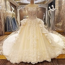 Backlake Special wedding dresses ball gown short sleeves