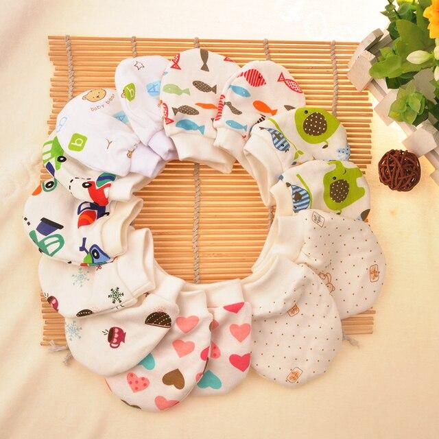 eb0bbf8da369 2 Pairs lot Random newborn Baby Cotton Cartoon Gloves luva infantil ...