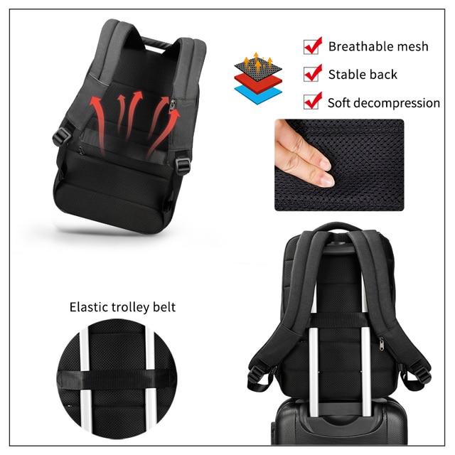 Tigernu Unique technique multifunction schoolbag for teenage USB 15.6 Laptop Anti theft Fashion Business Men backpack 1