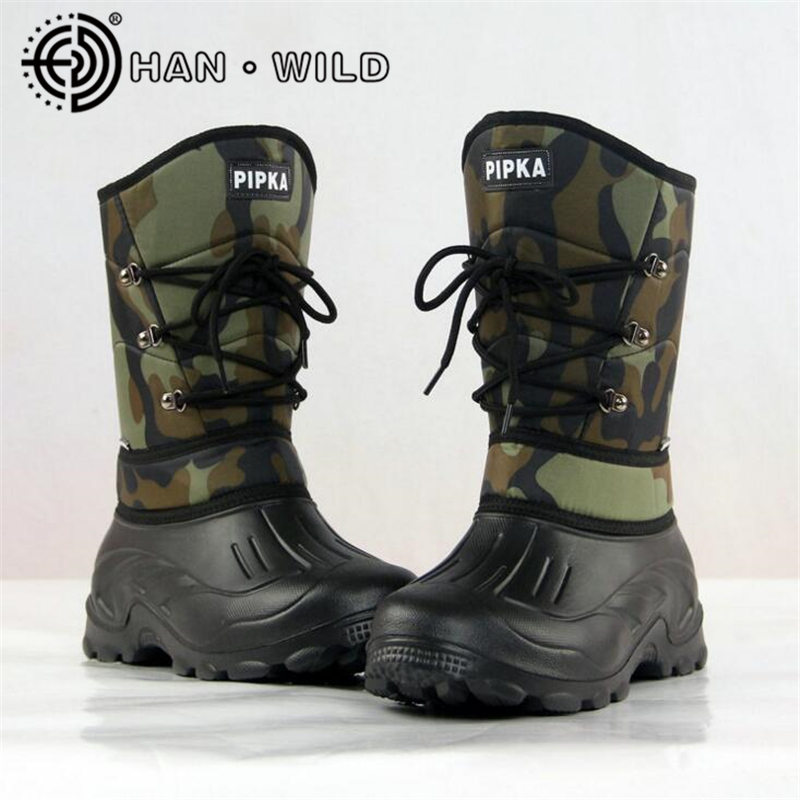 Buy 2017 winter snow boots men fishing for Waterproof fishing boots