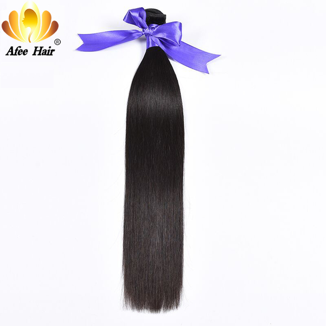 AliAfee Hair Products Peruvian Straight Hair 1 Pc Remy Human Hair Extension 8''-28'' Can Be Dye Can Buy 3 Bundles Deal